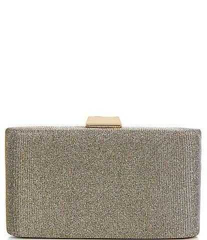 Kate Landry Soft Glitter Tweed Minaudiere