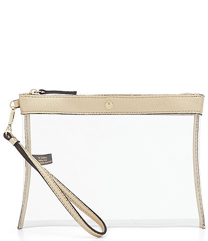 Kate Landry Stadium Clear Wristlet