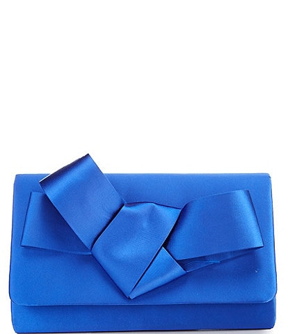 Kate Landry Structured Bow Clutch Bag