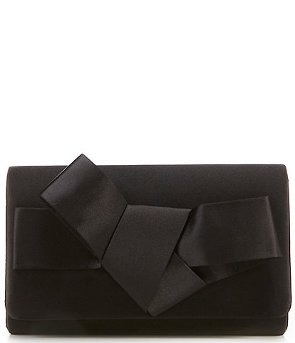 Kate Landry Structured Bow Snap Clutch Bag