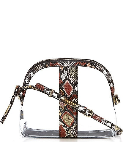 Kate Landry Tessa Clear Snake Dome Crossbody Bag