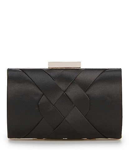 Kate Landry Woven Satin Front Clutch
