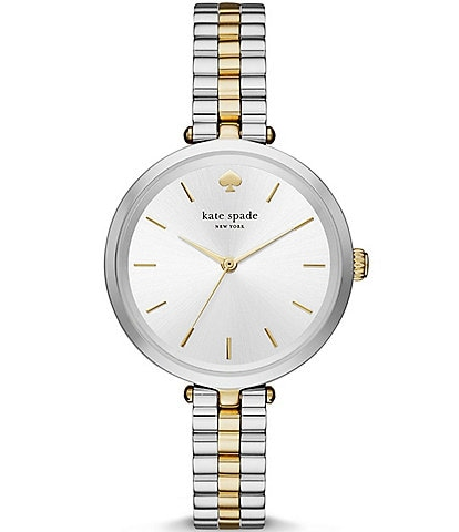 kate spade new york Holland Two-Tone Stainless Steel Bracelet Watch