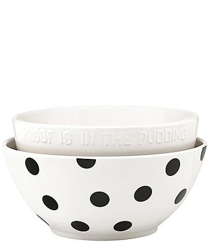 kate spade new york All in Good Taste 2-Piece Stoneware Mixing Bowl Set