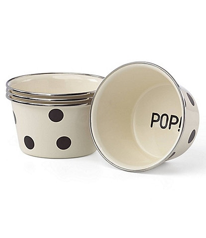 kate spade new york All in Good Taste Deco Dot Popcorn Bowls, Set of 4