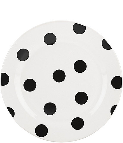 kate spade new york All in Good Taste Black Deco Dot Accent Plate