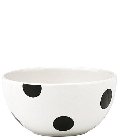 kate spade new york All in Good Taste Deco Dot Stoneware Fruit Bowl