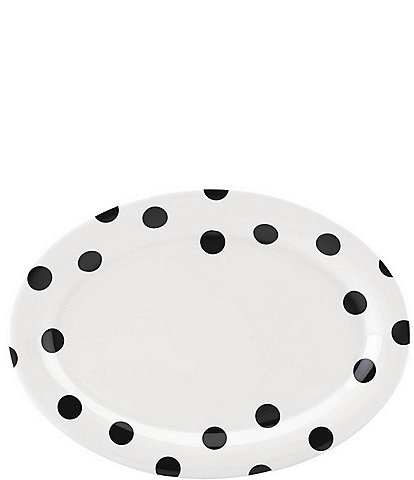 kate spade new york All in Good Taste Deco Dot Stoneware Oval Platter