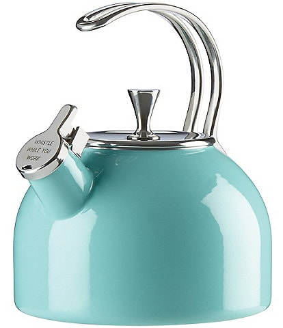 kate spade new york All in Good Taste Whistle While You Work Enameled Steel Tea Kettle