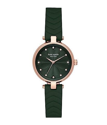 kate spade new york Annadale Quartz Analog Three-Hand Matte Green Leather Watch