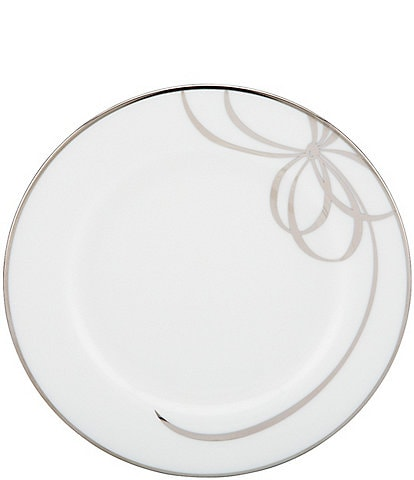 kate spade new york Belle Boulevard Bow Platinum Bread & Butter Plate