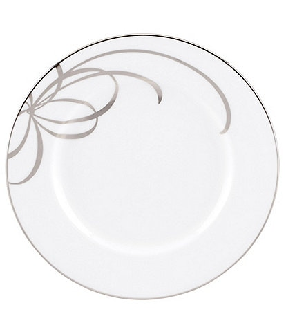 kate spade new york Belle Boulevard Bow Platinum Salad Plate