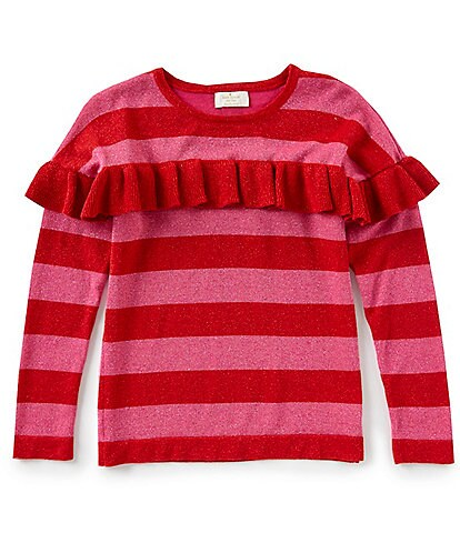 kate spade new york Big Girls 7-14 Ruffled Metallic Sweater