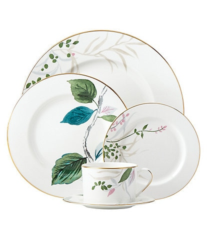 kate spade new york Birch Way Watercolor Floral Bone China 5-Piece Place Setting