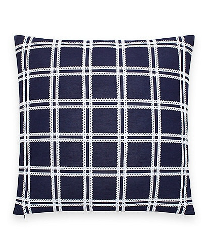 kate spade new york Blossom Ric Rac Grid Square Pillow