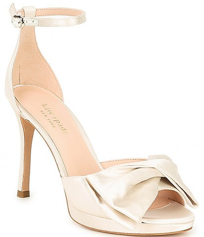 kate spade new york Bridal Bow Satin Dress Sandals