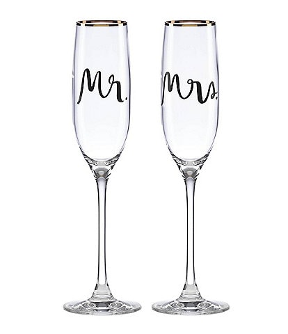 kate spade new york Bridal Party Flutes, Pair