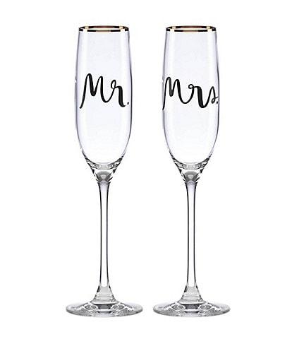 kate spade new york Bridal Party Flutes, Pair