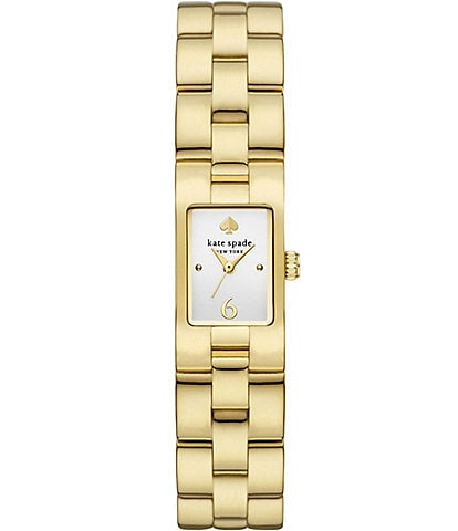 kate spade new york Brookville Gold-Tone Stainless Steel Watch