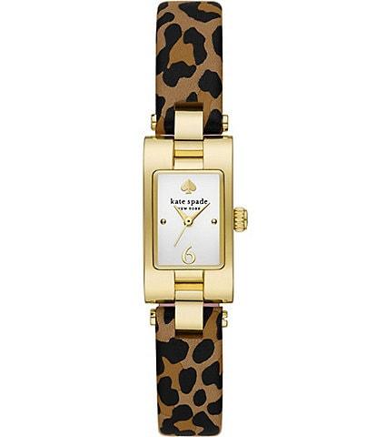 kate spade new york Brookville Leopard Leather Watch