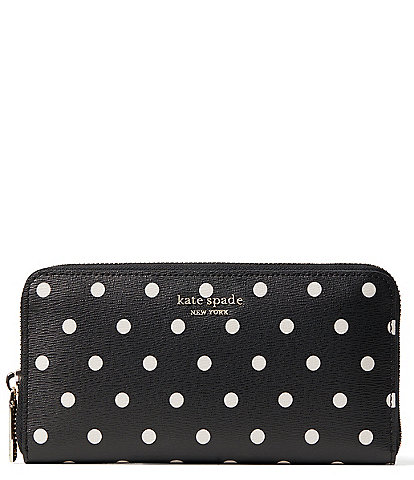 kate spade new york Cabana Dot Zip Continental Wallet