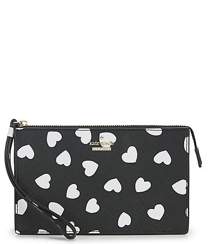 kate spade new york Cameron Street Hearts Leila Zip Top Wristlet