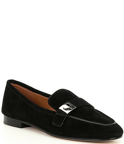 kate spade new york Catroux Logo Hardware Suede Loafers