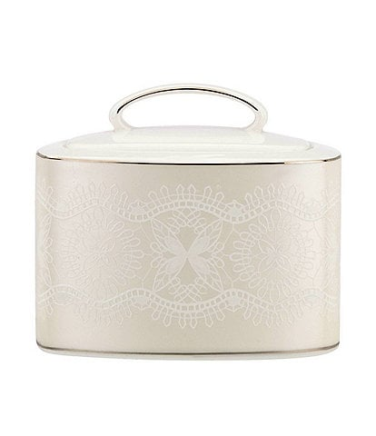 kate spade new york Chapel Hill Lace Sugar Bowl with Lid