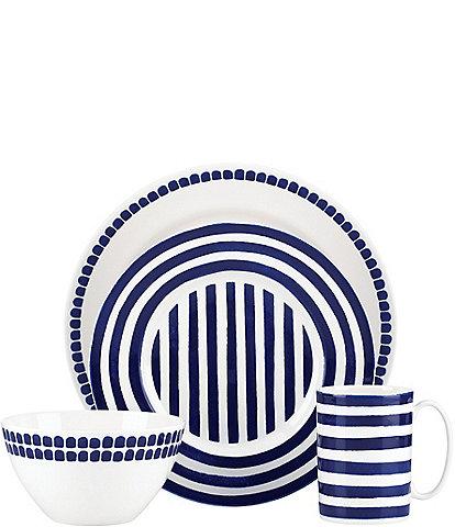 kate spade new york Charlotte Street Blue Porcelain 4-Piece Place Setting