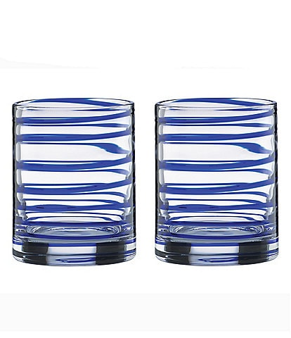 kate spade new york Charlotte Street Spiral Double Old Fashioned Glass Pair