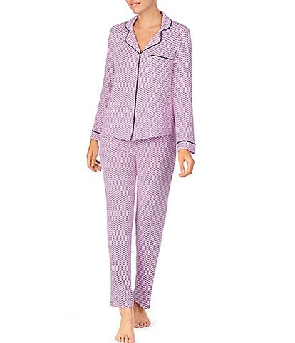 kate spade new york Dot & Stripe Print Jersey Knit Pajama Set