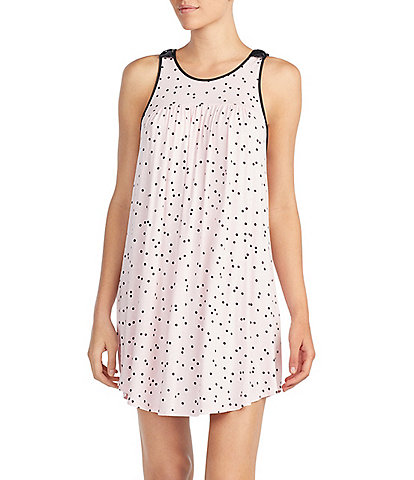 kate spade new york Dot-Print Jersey Knit Chemise