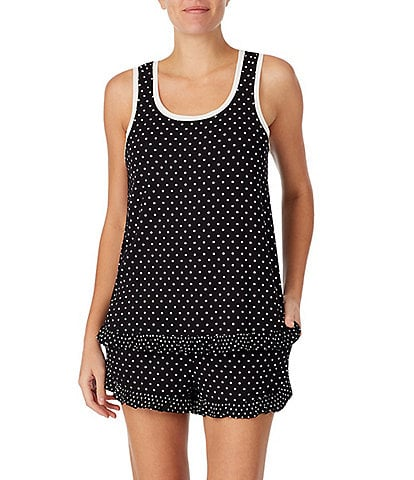 kate spade new york Dot Print Jersey Knit Tank & Shorts Pajama Set