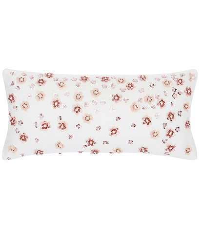 kate spade new york Dots Dash Collection Floral Sequin Pillow