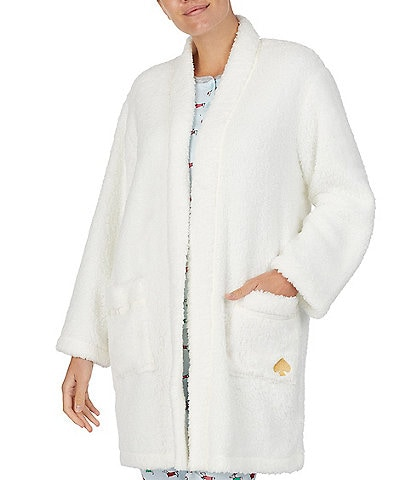 kate spade new york Faux Sherpa Fleece Bed Jacket
