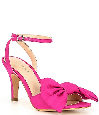 kate spade new york Gloria Bow Detail Ankle Strap Dress Sandals