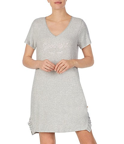 kate spade new york Goodnight Brushed Knit Sleep Shirt
