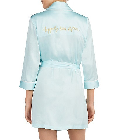 kate spade new york #double;Happily Ever After#double; Charmeuse Wrap Robe