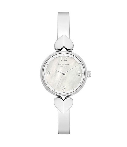 kate spade new york Hollis Three-Hand Stainless Steel Bangle Watch