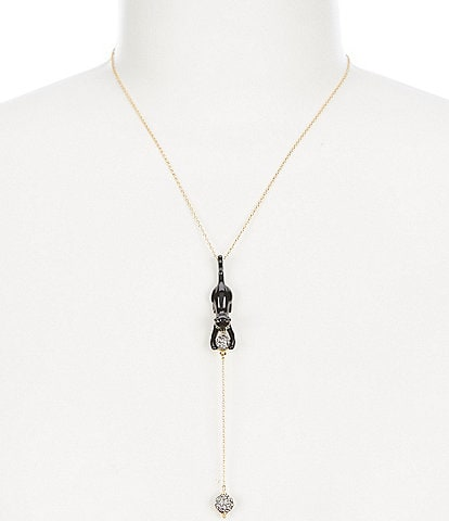 kate spade new york House Cat Y Necklace