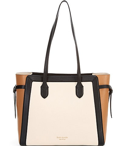 kate spade new york Knott Colorblocked Pebbled Leather Large Tote Bag