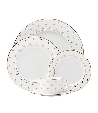 kate spade new york Larabee Road Dotted Gold Bone China 5-Piece Place Setting