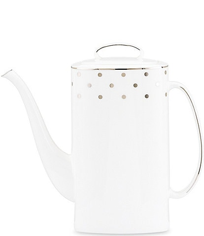 kate spade new york Larabee Road Dotted Platinum Bone China Coffeepot
