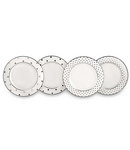 kate spade new york Larabee Road Platinum China Set of 4 Tidbit Plates