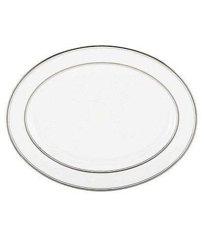 kate spade new york Library Lane Platinum 16#double; Oval Platter