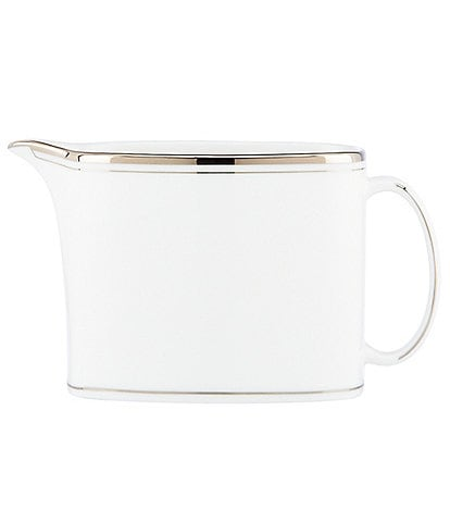 kate spade new york Library Lane Platinum-Striped Creamer