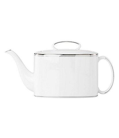 kate spade new york Library Lane Platinum Teapot