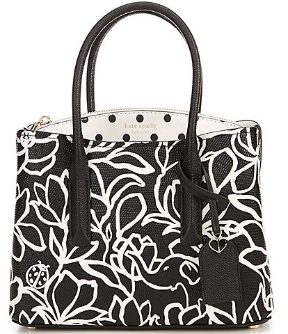 kate spade new york Margaux Floral and Dot Medium Satchel Bag