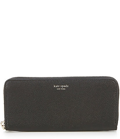 kate spade new york Margaux Refined Grain Leather Slim Zip Around Continental Wallet