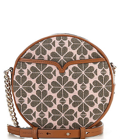kate spade new york Medium Spade Flower Round Crossbody Bag